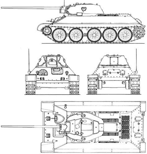 The-Blueprints.com - Blueprints > Tanks > Tanks T > T-34 ... T 34 Blueprints