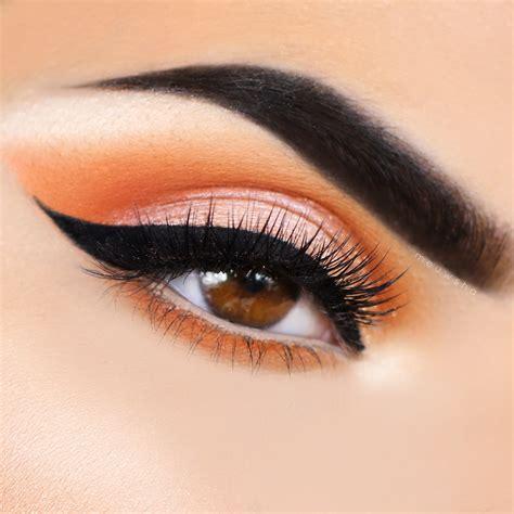 Eyeshadow Orange burnt orange makeup tutorial foil eyeshadow makeup and makeup