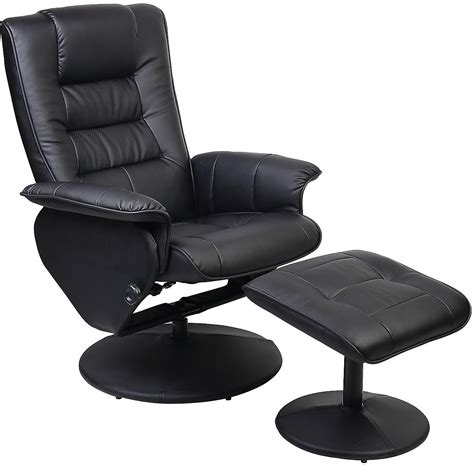 reclined chair duncan reclining chair w ottoman black the brick