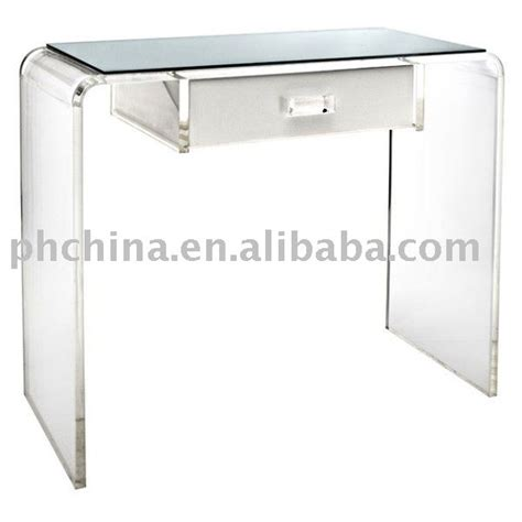 Clear Vanity Table Clear Acrylic Waterfall Vanity Table Acrylic Office Desk View Office Desk And Table Puhua