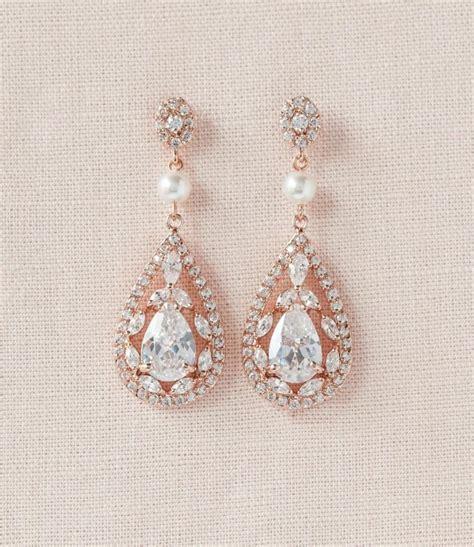 Vintage Style Bridal Pearl Earrings Pearl Earrings Wedding by Bridal Earrings Vintage Style Pearl Swarovski