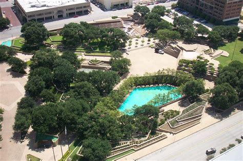 water gardens fort worth tx by philip johnson and