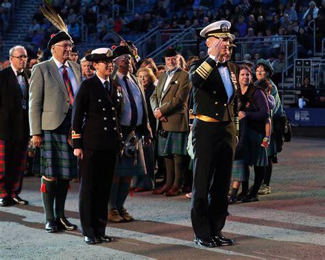 edinburgh tattoo royal marines royal navy welcomes us navy admiral to edinburgh tattoo