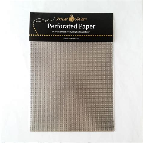 Perforated Paper Pp6 Silver shiny metallic silver perforated paper stitched modern
