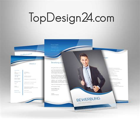 Deckblatt Vorlagen Blau Topdesing24 Bewerbung Deckblatt Muster