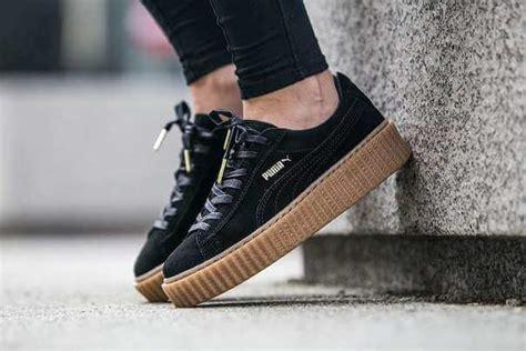 Rihanna X Creeper Black x rihanna suede creeper black gum the sole supplier