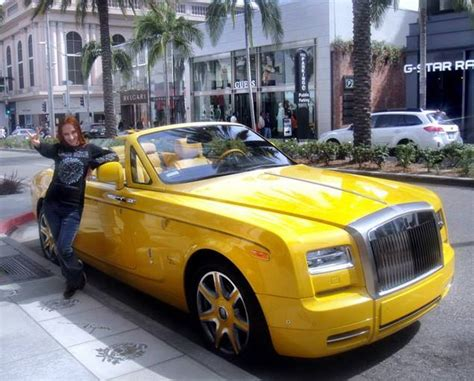 yellow rolls royce sofia metal and yellow rolls royce by