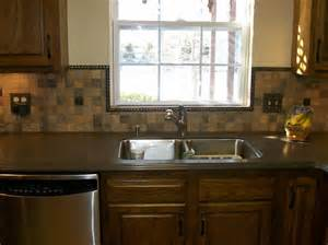 Kitchen Mosaic Backsplash Awesome Slate Mosaic Metal Backsplash And Wooden Style Kitchen Cabinet