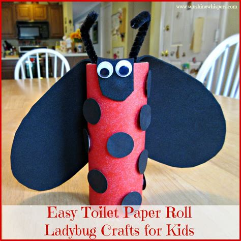 Easy Crafts Using Toilet Paper Rolls - easy toilet paper roll ladybug crafts for