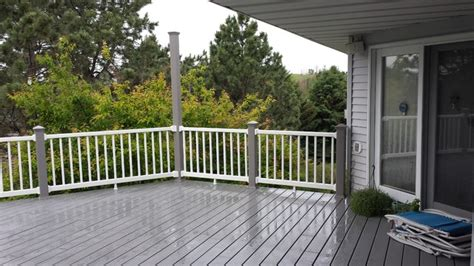 gray deck deck replacement with trex select pebble grey decking