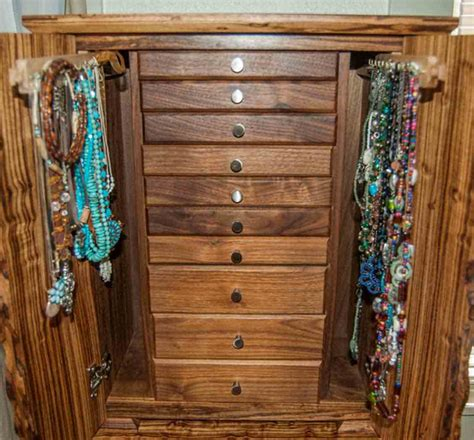 armoire jewelry box armoire jewelry box with necklace holders