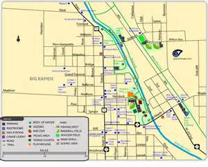 Ferris State Campus Map by Maps Of Parks Trails Amp More In Big Rapids
