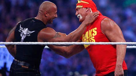 dwayne the rock johnson vs hulk hogan dwayne johnson says of hulk hogan we ve all talked trash