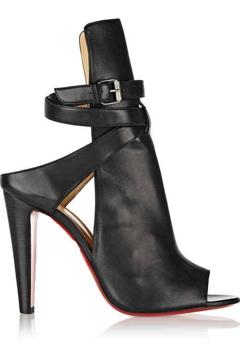 shoe boot lyst christian louboutin hippik 100 cutout leather ankle