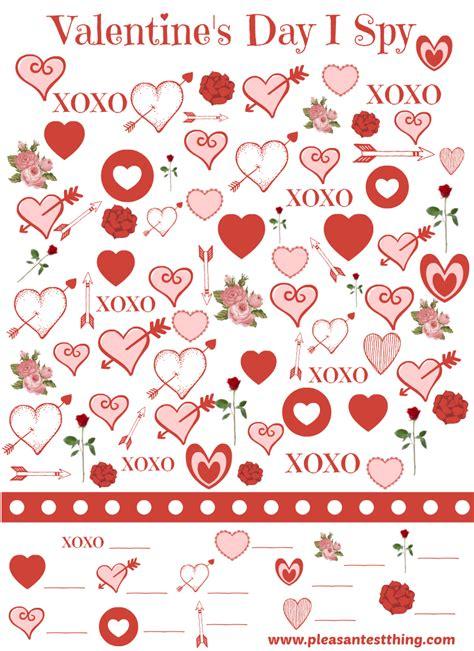 printable games for valentine s day valentine s day i spy game