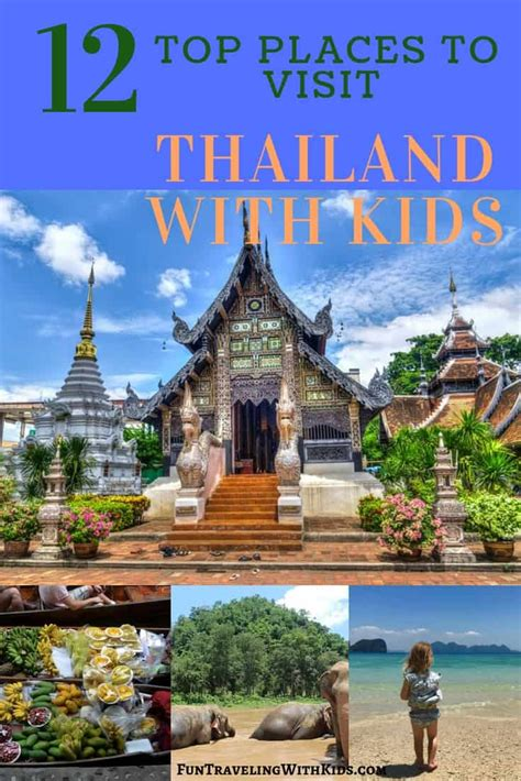 thailand  kids top places  visit fun traveling
