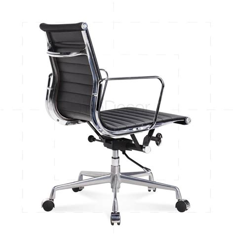 eames office furniture eames office chair low back ribbed leather black 163 289 0