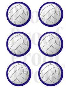 3 inch printable volleyball tags or labels royal outline
