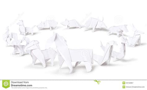 Origami Zodiac - origami zodiac signs stock illustration