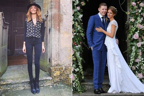professor green millie wedding millie mackintosh poses at chapel where she married