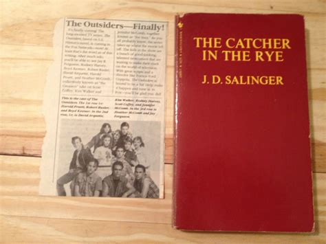 catcher in the rye outsider theme the catcher in the rye j d salinger the outsiders