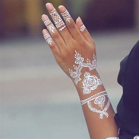 instagram tattoo temporary stunning white henna inspired tattoos that look like