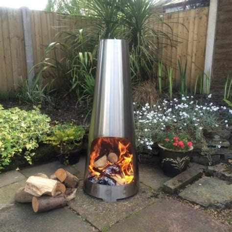 chiminea outdoor fireplace nz stainless steel cone chimenea small made o metal