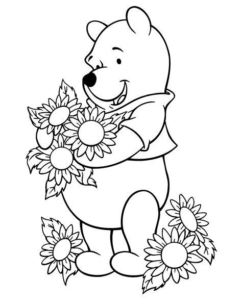 sun and flowers coloring book for adults featuring beautiful and creative floral designs for stress relieve and sweet relaxation books desenho de pooh cheirando girassois para colorir
