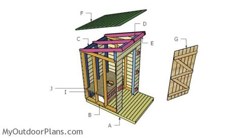 outhouse floor plans outhouse plans myoutdoorplans free woodworking plans