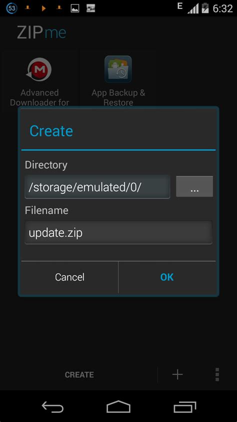 Android Zip File Direct by How To Create A Flashable Zip File On Android With Zipme