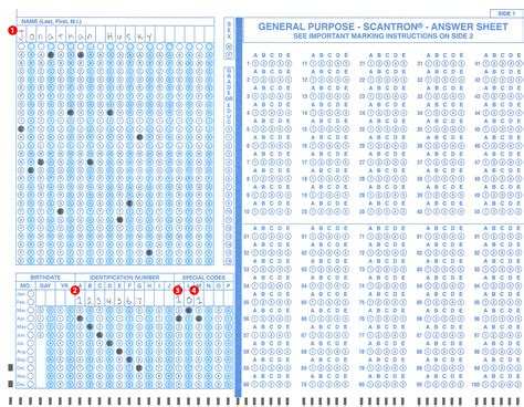 Completing And Submitting Scantron Exam Scanning Sheets