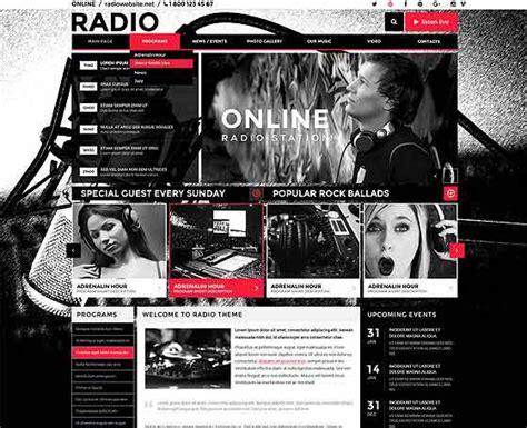 wordpress themes free radio station radio themes online radio station templates gridgum