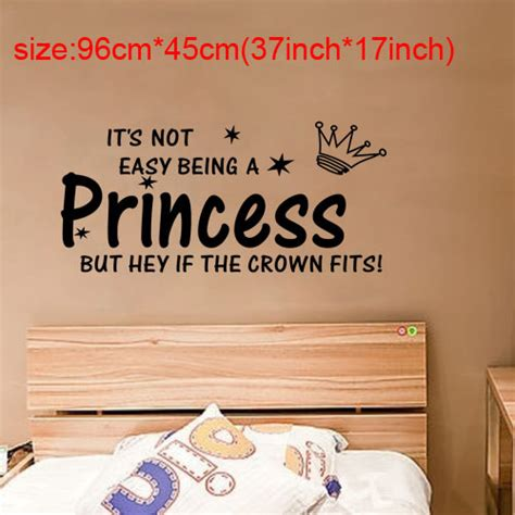 word wall stickers for bedrooms cute words not easy being princess wall stickers decor