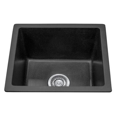 black single bowl kitchen sink single bowl black granite stone topmount kitchen sink 460mm