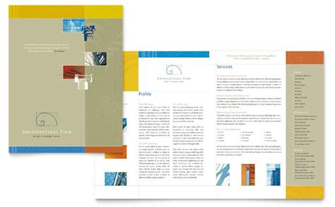 architectural firm brochure template word publisher