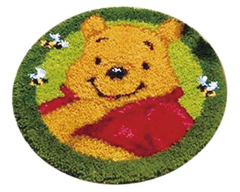 Karpet Set Kepala Winnie The Pooh latch hook kit karpet pooh 50x50cm l15 crafts