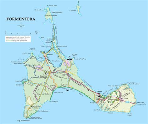 printable ibiza road map formentera road map