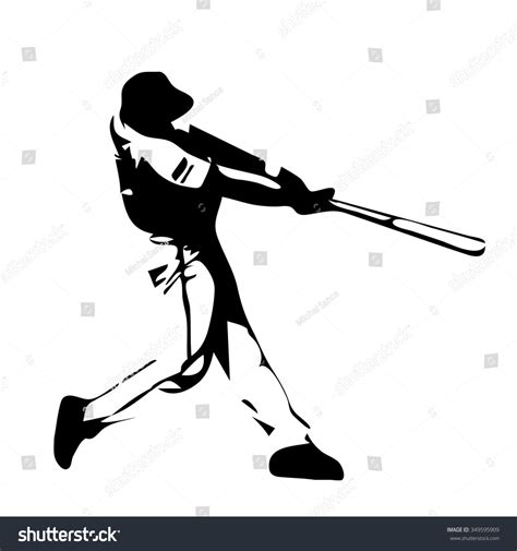 baseball player swinging bat clip art baseball player swinging bat vector silhouette stock