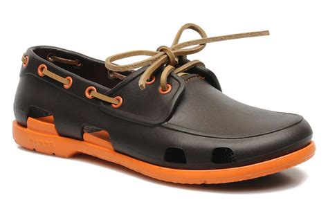 crocs boat shoes crocs beach line boat shoe men lace up shoes in brown at