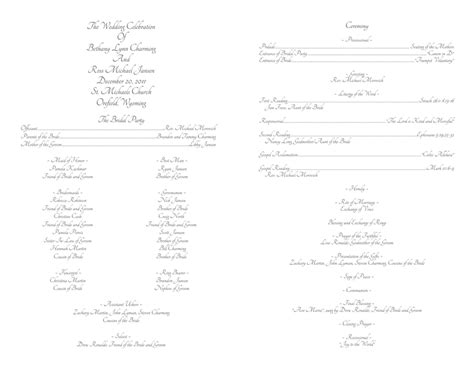 Wedding Program Templates Wedding Programs Fast Template For Wedding Program