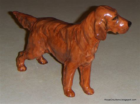 irish setter dog figurine royaldoultons royal doulton irish setter dog figurine hn 1055