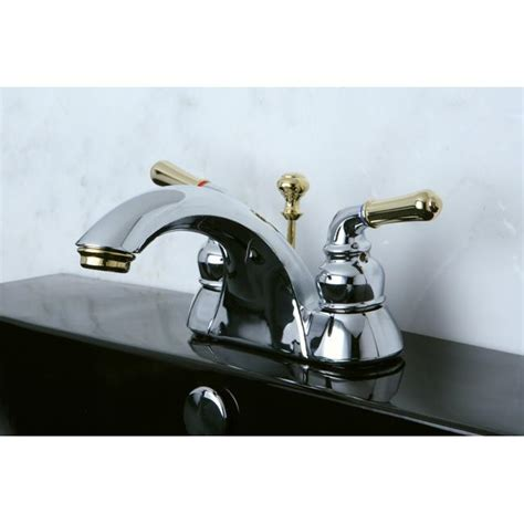 two tone bathroom faucets two tone chrome and brass bathroom faucet overstock