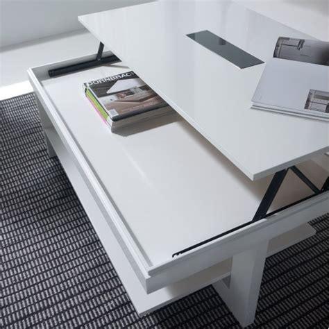table basse bois blanche table basse relevable bois blanche karla mobilier