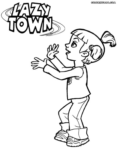 lazy town coloring pages coloring pages to download and