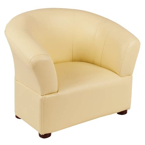 comfy pvc leather look tub chair armchair seat