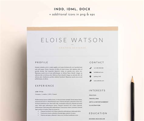 Resume Template Adobe Indesign by Indesign Resume Templates Sidemcicek