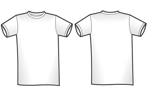 white t shirt front and back template blank t shirt front and back clipart best