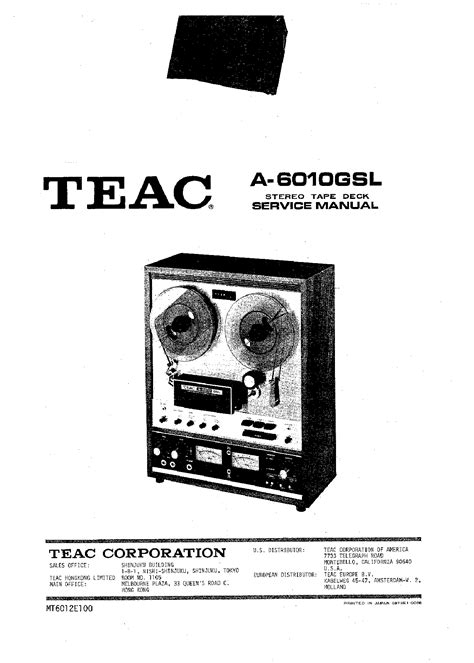 Teac 6010 Service Manual : Free Programs, Utilities and