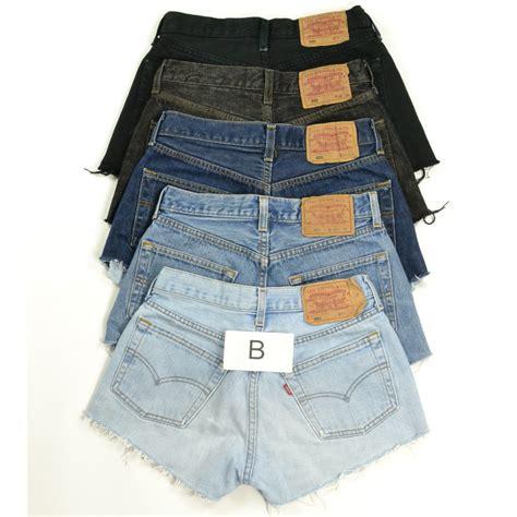 Denim Hotpants vintage womens levis denim shorts grade b high waisted