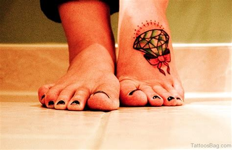 tattoo diamond foot 40 decent bow tattoos on foot